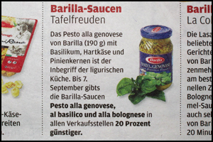 Pesto-Sauce von Barilla